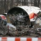 The wreckage of the Polish presidential plane which crashed in western Russia in 2010, killing President Lech Kaczynski and 95 others (AP)