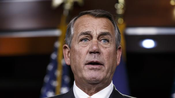 Mr Boehner advised the president to be stopped from tweeting overnight (AP)
