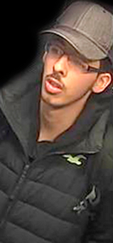 CCTV handout photo of Salman Abedi on the night of the attack. Photo courtesy Greater Manchester Police