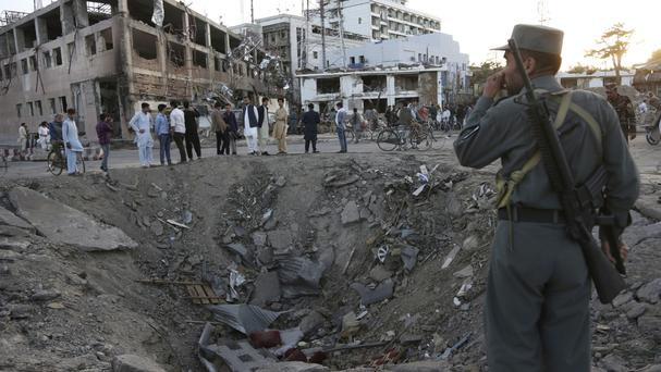 Explosion hits near diplomatic area in Afghanistan