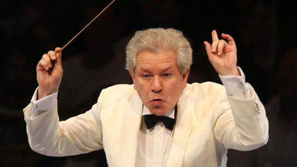 Jiri Belohlavek, pictured as he leads the BBC Symphony Orchestra at the First Night of the Proms at the Royal Albert Hall in 2009