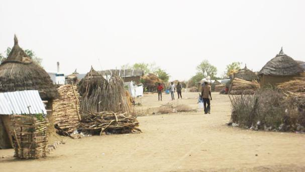 Nigerian refugees at a displacement camp in Cameroon (Amnesty International/PA)