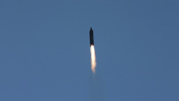 Russia borders North Korea and saw one of Pyongyang's missiles land close to its waters (Korean Central News Agency/Korea News Service via AP)