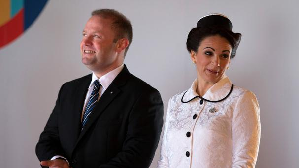 Joseph Muscat and his wife Michelle Muscat