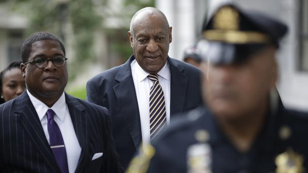 Bill Cosby arrives for his sexual assault trial at the Montgomery County Courthouse in Norristown, Pennsylvania (Matt Rourke/AP)