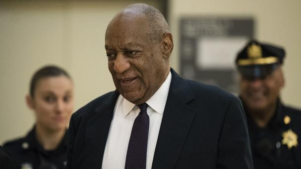 Bill Cosby arrives at Montgomery County courthouse for the second day of his sex assault trial (Matt Rourke/AP)