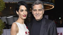 The Clooneys have welcomed twins Ella and Alexander (Jordan Strauss/Invision/AP)