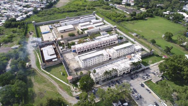 The prison in Ciudad Victoria, Mexico, where authorities closed nearby roads (Tamaulipas state security spokesperson's office/AP)
