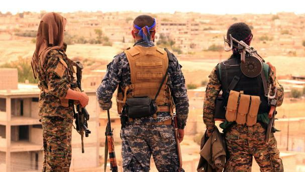 Syrian Democratic Forces fighters have launched an offensive for Raqqa (Syrian Democratic Forces/AP)