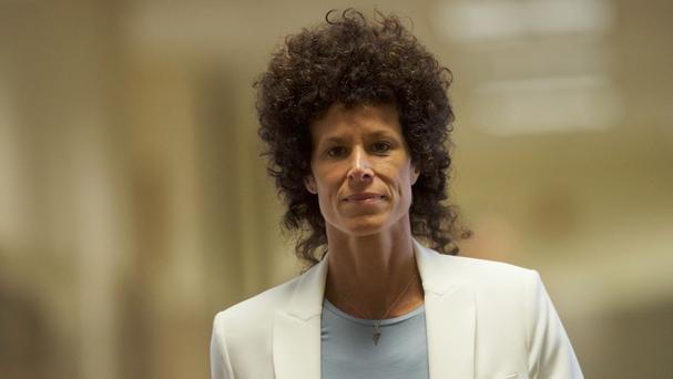 Andrea Constand arrives for the third day of Bill Cosby's sexual assault trial (Mark Makela/AP)