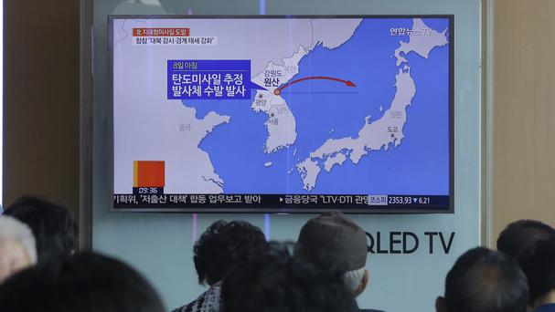 A statement said the launch came from the North Korean eastern coastal town of Wonsan (AP)
