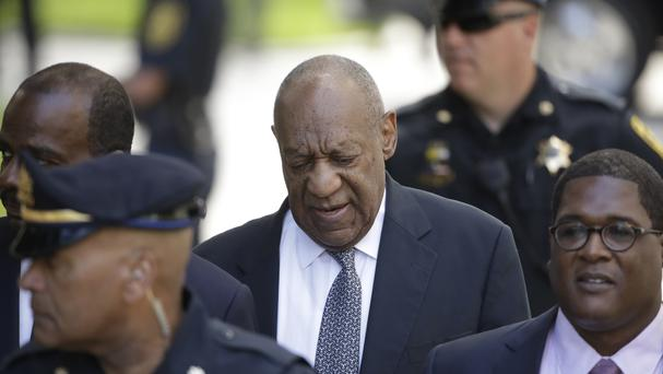 Bill Cosby arrives for his sexual assault trial at the Montgomery County Courthouse. (AP/Matt Rourke)