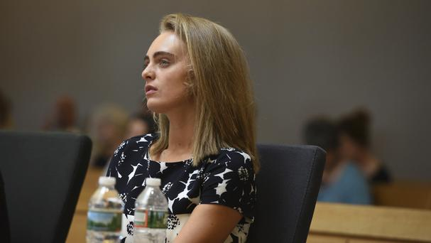 Michelle Carter during her trial in Taunton, Massachusetts (Boston Herald/AP)