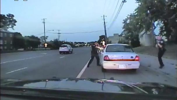 Video taken during the traffic stop in Falcon Heights, Minnesota (St Anthony Police/AP)
