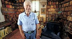 Forrest Fenn at his Santa Fe home (Santa Fe New Mexican/AP)