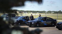 Police at Bishop International Airport in Flint, Michigan (Shannon Millard/The Flint Journal-MLive.com via AP)