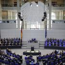 German parliament president Norbert Lammert delivers a speech to commemorate late former chancellor Helmut Kohl (Markus Schreiber/AP)