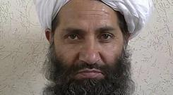 Maulvi Haibatullah Akhunzadah vowed to fight on until a full withdrawal of Nato troops (Afghan Islamic Press via AP)