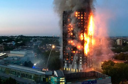 The Grenfell tower blaze. Photo: GETTY