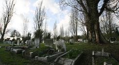 Stock picture of a cemetery