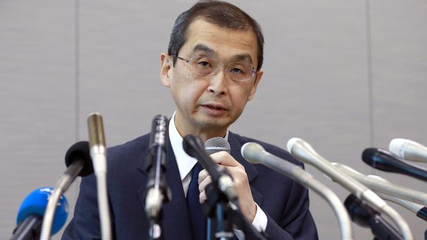Takata chief executive Shigehisa Takada speaks during a press conference in Tokyo (AP)