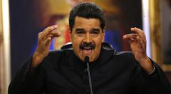 Venezuela's president Nicolas Maduro said the helicopter incident was part of a conspiracy against his government (AP)