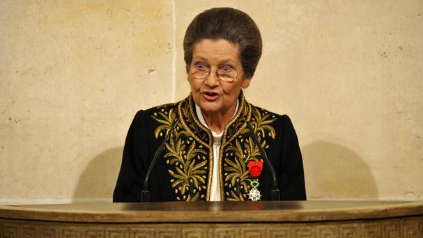 Simone Veil said her experiences in Nazi concentration camps made her a firm believer in the unification of Europe (AP)