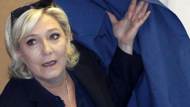 Marine Le Pen was elected to the French parliament this month and gave up her seat in the European Parliament (AP)