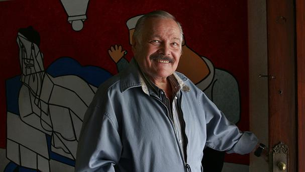 Jose Luis Cuevas pictured in 2007 - the Mexican painter has died aged 83 (AP Photo /Marco Ugarte, File)