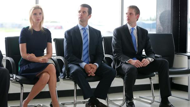 Donald Trump's three eldest children, Ivanka, Don and Eric
