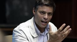 Opposition leader Leopoldo Lopez has been transferred to house arrest in Venezuela (AP/Ariana Cubillos)
