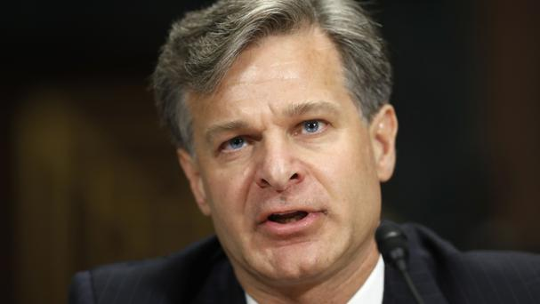FBI director nominee Christopher Wray testifies on Capitol Hill in Washington (AP)