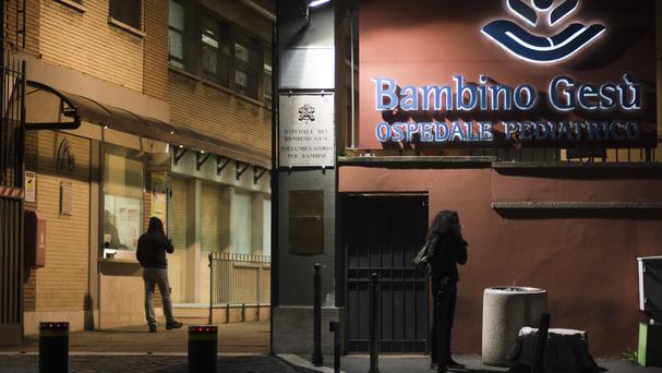 The pair is accused of using money from the Bambino Gesu paediatric hospital's fundraising foundation to pay for renovations (AP)