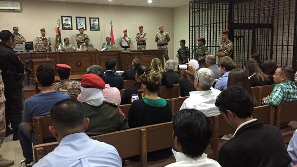 A military court convenes in the case of a Jordanian soldier accused of shooting dead three US military trainers (AP/Omar Akour)