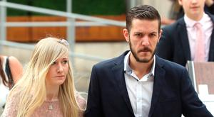 Charlie Gard's parents Connie Yates and Chris Gard arrive at the Royal Courts of Justice in London. Photo: Jonathan Brady/PA Wire