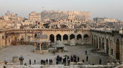 Chechnya is helping to rebuild the Great Mosque of Aleppo (AP)