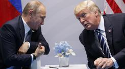 Vladimir Putin and Donald Trump at the G20 Summit in Hamburg (AP Photo/Evan Vucci)