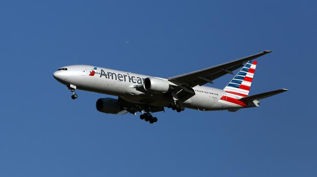 American Airlines in crisis. Stock photo