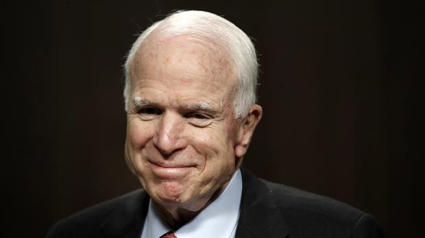 Doctors say Senator John McCain has been diagnosed with a brain tumour after a blood clot was removed (AP Photo/Jacquelyn Martin, File)