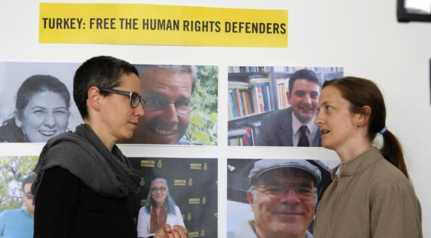 Partners of jailed activists in Turkey demand their release