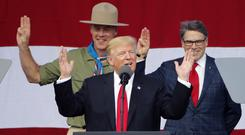 President DonaldTrump addressed the National Boy Scout Jamboree earlier this week (Steve Helber/AP)