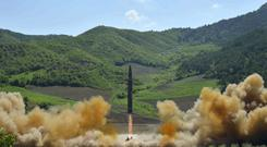 A Hwasong-14 intercontinental ballistic missile was launched by North Korea earlier this month