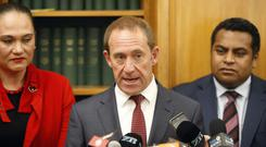 New Zealand Labour Party leader Andrew Little announces he is quitting (AP Photo/Nick Perry)