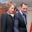 Syrian President Bashar Assad casts his ballot next to his wife Asma at a polling station during a referendum on the new constitution, in Damascus, Syria. Photo: AP