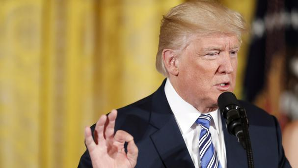 President Donald Trump has taken to Twitter to say his support is stronger than ever. (AP)