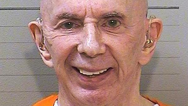 Phil Spector is now completely free of his huge hair (California Department of Corrections and Rehabilitation/AP)