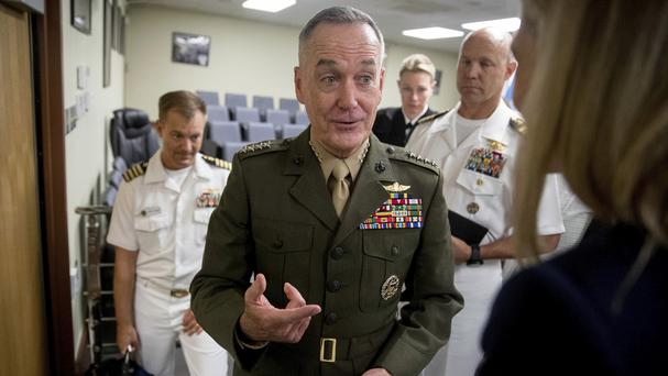 General Joseph Dunford told South Korean allies that the US is ready to defend itself and its allies from any North Korean provocation (AP)