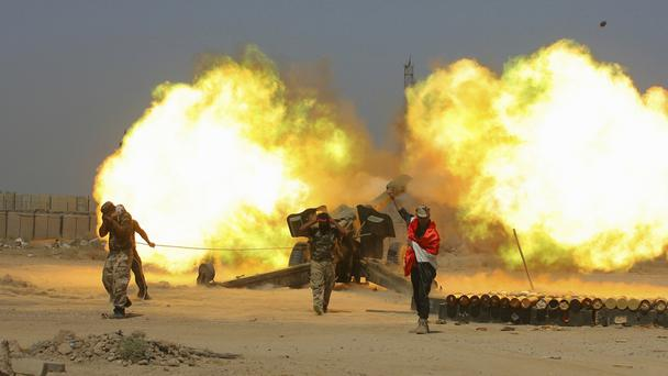 Iraqi security forces and allied Popular Mobilisation forces are expected to take part in the offensive (AP/Anmar Khalil)