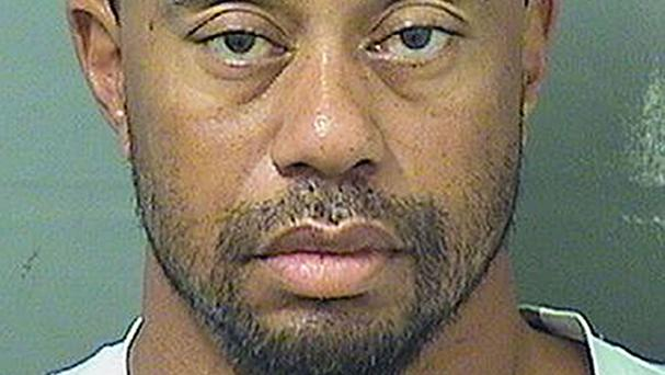 Tiger Woods after his arrest in May when officers found him asleep in his car (Palm Beach County Sheriff's Office/AP)