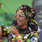 Mrs Mugabe is alleged to have assaulted a young woman on Sunday night (AP)